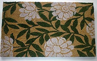 Geo Crafts Vinyl Back Geraniums Doormat