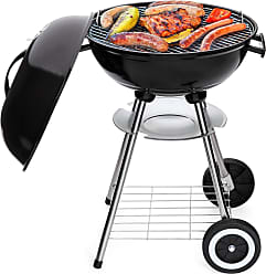 Best Choice Products 18in Charcoal Barbecue Grill w/ Storage Rack, Detachable Legs, 2 Wheels