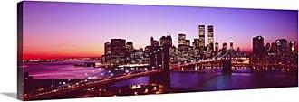 Great Big Canvas New York City Brooklyn Bridge Twilight Canvas Wall Art Print - 1502_24_36X12_NONE