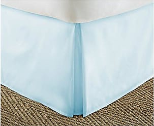 iEnjoy Home IEH-BEDSKIRT-TWIN-AQUA Home Collection Pleated Bed Skirt, Twin, Aqua