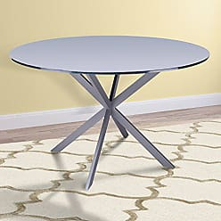 Armen Living LCMYDIBAGREY Mystere Dining Table, Gray