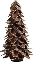 Zodax 12 Tall Mahogany Leaf Cone Christmas Tree