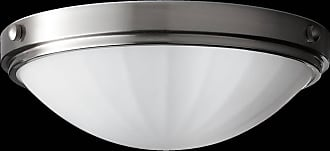 Feiss FM352BS Perry Flushmount in Brushed Steel finish with White Opal Etch Glass