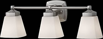 Feiss VS19903-BS Delaney Vanity Fixtures in Brushed Steel finish with White Opal Etched Glass