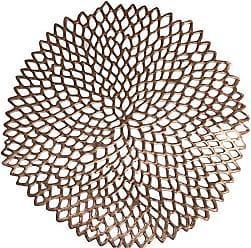 Niazitex LUGAR AMERICANO PVC FOLHAS 38 CM REDONDO - NIAZITEX Rose