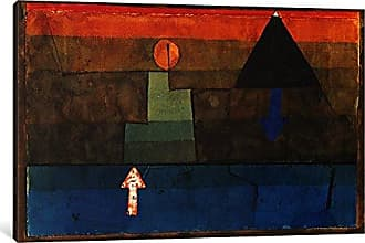 iCanvas ART 1-Piece Contrasts in The Evening Blue and Orange 1924-1925 Canvas Print by Paul Klee, 1.5 x 18 x 12-Inch