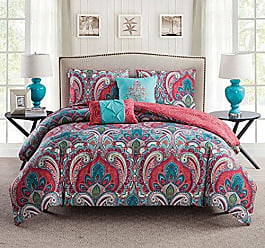 VCNY Home VCNY Casa Reversible Comforter Set 5 Piece - Multi - Size: King Victoria Classics