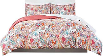 Home Dynamix Nicole Miller Kids Paisley Plush Microfiber Full/Queen Comforter Set with Cotton Sheet Set, 7 Piece, Orange/Pink/Green Paisley