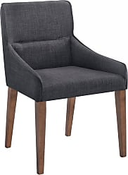Omax Decor Ellen Dining Side Chair - Set of 2 Charcoal - NF1002