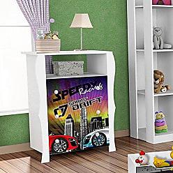 J&A Moveis Comoda Infantil Criança 3 Gavetas Lara Drift Cor Branco