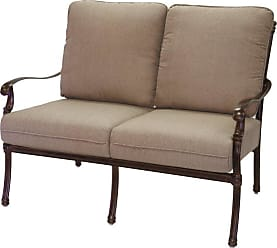 DARLEE Outdoor Darlee Florence Patio Loveseat with Sesame Cushions - 201028-2/102-AB