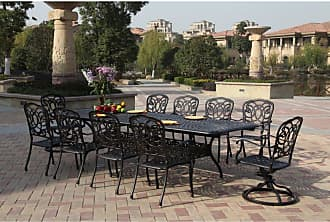 DARLEE Outdoor Darlee Florence 11 Piece Aluminum Rectangular Patio Dining Set with Extension - 201020-11PC-60LE-AB