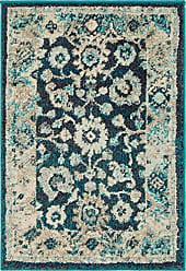 Unique Loom Penrose Collection Distressed Traditional Vintage Navy Blue Area Rug (2 x 3)