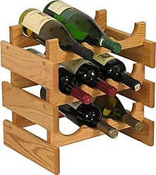 Wooden Mallet 9 Bottle Dakota Wine Rack, Light Oak