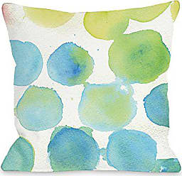 One Bella Casa 74600PL16 Pillow 16 x 16 x 3 Blue/Multicolored