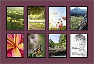 Art to Frames Double-Multimat-1039-815/89-FRBW26079 Collage Photo Frame Double Mat with 8-6x8 Openings and Satin Black Frame