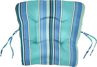 Cushion Source Sunbrella Striped 18 x 20 in. Chair Back Cushion Foster Surfside - 9DXZS-56049
