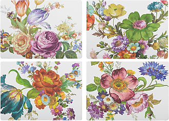 MacKenzie-Childs Flower Market Cork Back Placemats - Set of 4 - White