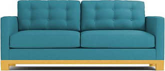 Apt2B Logan Drive Twin Size Sleeper Sofa - Leg Finish: Natural - Sleeper Option: Deluxe Innerspring Mattress - Teal Performance Fabric - Sold by Apt2B