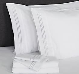Furinno Angeland Vienne 3-Piece Microfiber Bed Sheet and Pillowcase Set, Twin, White