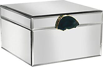 The Jay Companies American Atelier Agate Jewelry Box, Mirror