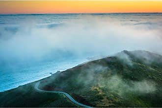 Noir Gallery Fog at Sunset from Hawk Hill in San Francisco on Canvas - SF-07-TW-08