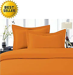 Elegant Comfort 5-Piece 1500 Thread Count Egyptian Quality Hypoallergenic Ultra Soft Wrinkle, Fade, Stain Resistant Bed Sheet Sets with Deep Pockets, Split King, Flame Orange