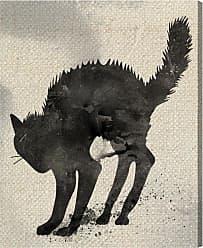 Hatcher & Ethan Cat Silhouette Canvas Wall Art - 14862_17X20_CANV_XHD_HE