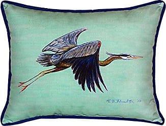Betsy Drake SN327C Flying Heron - Teal Pillow, 11 x14