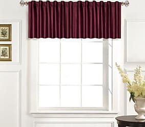 United Curtain 100-Percent Dupioni Silk Straight Valance, 42 by 19-Inch, Burgundy