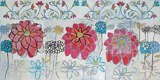 Marmont Hill 30x60 Pink Zinnia Painting Print on Wrapped Canvas, 30 x 60