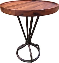 222 Fifth Patina Vie Round Accent End Table Natural - 7116NT026A1R83