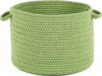 Rhody Rug Fun Braids Solid Lime 14 x 10 Basket