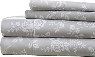 Noble Linens Premium Ultra Soft Rose Gray Pattern Sheet Set by Noble Linens, Size: Queen - NL-4PC-RGR-Q-LG