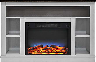 Cambridge Silversmiths CAM5021-1WHTLED 47 In. Electric Fireplace with a Multi-Color LED Insert and White Mantel
