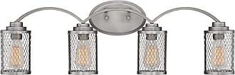 Millennium Lighting Akron 4-Light Bath Vanity in Brushed Pewter
