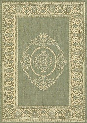 Couristan Couristan 1078/1812 Recife Antique Medallion/Green-Natural 8-Feet 6-Inch by 13-Feet Rug