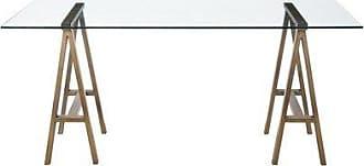 Pangea Home Z Brass Brady Desk, Brushed