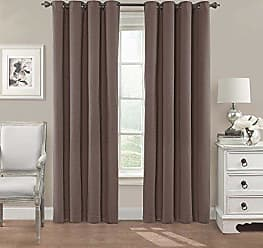 Ellery Homestyles ECLIPSE Blackout Curtains for Bedroom - Nadya 52 x 84 Insulated Darkening Single Panel Grommet Top Window Treatment Living Room, Teak
