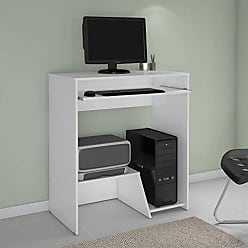JCM Movelaria Mesa Escrivaninha Para Computador Iris Branca JCM Movelaria