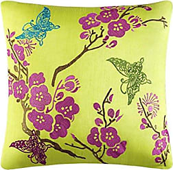 Five Queens Court Christy Throw Pillow, Lime
