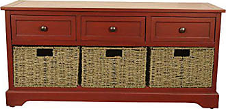 Decor Therapy Fr6300 Bench, Antique Red