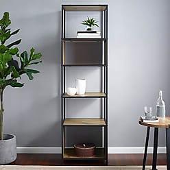 Walker Edison WE Furniture AZF70JERRO Bookcase, 70, Rustic Oak
