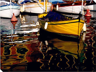 West of the Wind Yellow Boat Indoor/Outdoor Canvas Art - OU-78900