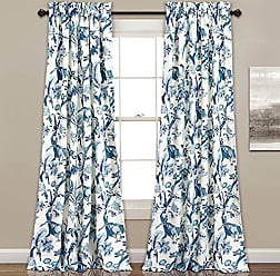 Triangle Home Fashions Lush Decor Curtains Dolores Darkening Window Panel Set for Living, Dining Room, Bedroom (Pair), 84 x 52, Blue