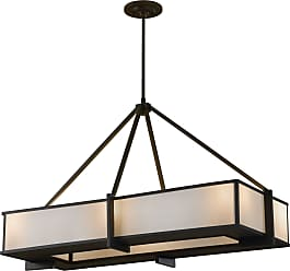 Feiss F2400/6ORB Stelle 6 Light Chandelier in Oil Rubbed Bronze finish with Cream Linen Shade