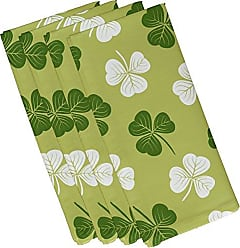 E by Design E by design N4HFN758GR21 Lucky Holiday Floral Print Napkin (Set of 4)