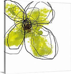 Great Big Canvas Green Liquid Floral Four Canvas Wall Art - 1047924_24_16X16_NONE