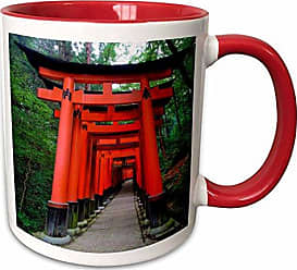 3D Rose 207289_5Japan, Kyoto. Torii Gates In The Fushimi Two Tone Mug 11 oz Red
