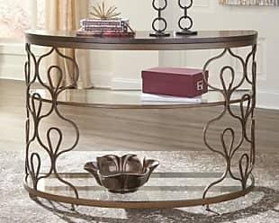 Ashley Furniture Fraloni Sofa Console Table Bronze Finish
